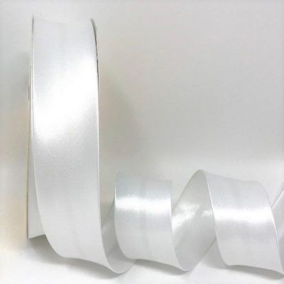 Satin Bias Binding - White - 18mm Or 30mm Wide