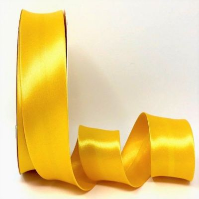 Satin Bias Binding - Yellow - 18mm Or 30mm Wide