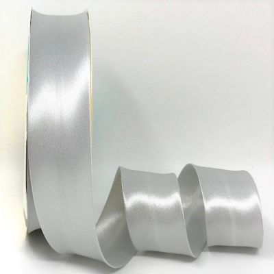 Satin Bias Binding - Silver Grey - 18mm Or 30mm Wide