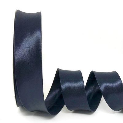 Satin Bias Binding - Dark Navy - 18mm Or 30mm Wide