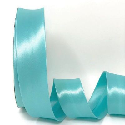 Satin Bias Binding - Aqua - 18mm Or 30mm Wide