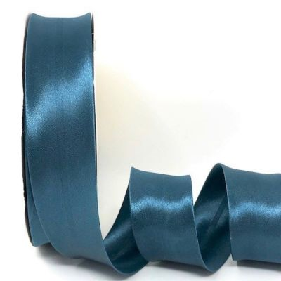 Satin Bias Binding - Storm Blue - 18mm Or 30mm Wide