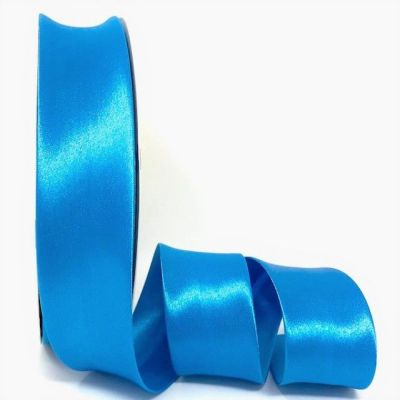 Satin Bias Binding - Turquoise - 18mm Or 30mm Wide