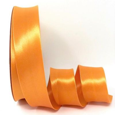 Satin Bias Binding - Tangerine - 18mm Or 30mm Wide
