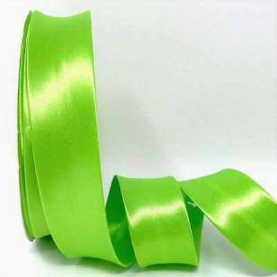 Satin Bias Binding - Lime Green - 18mm Or 30mm Wide