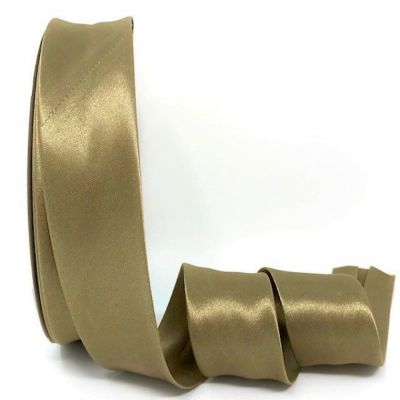 Satin Bias Binding - Khaki - 18mm Or 30mm Wide