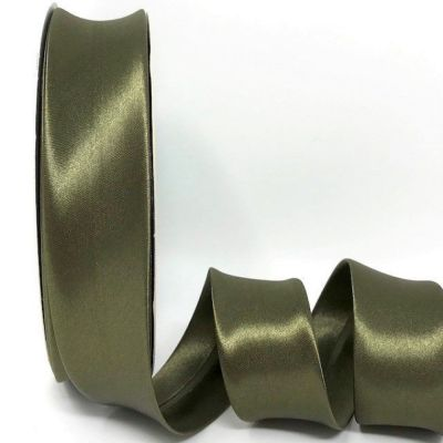 Satin Bias Binding - Olive - 18mm Or 30mm Wide