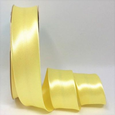 Satin Bias Binding - Lemon - 18mm Or 30mm Wide