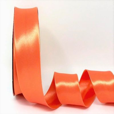 Satin Bias Binding - Orange - 18mm Or 30mm Wide