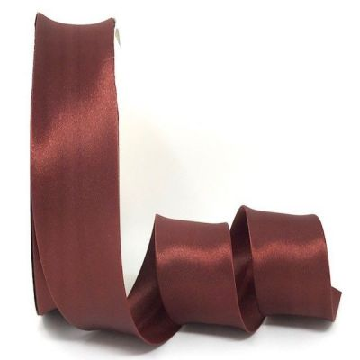 Satin Bias Binding - Rust - 18mm Or 30mm Wide