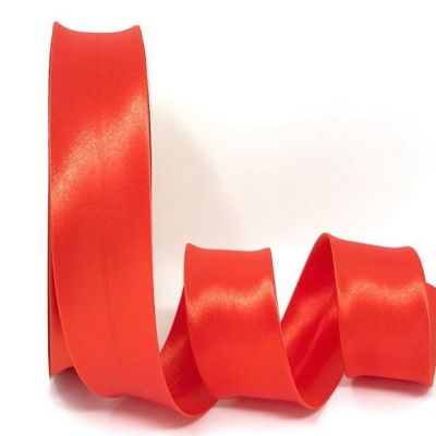 Satin Bias Binding - Deep Orange - 18mm Or 30mm Wide