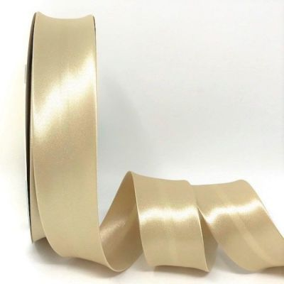 Satin Bias Binding - Soft Gold - 18mm Or 30mm Wide