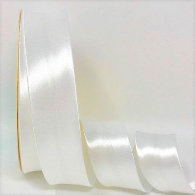 Satin Bias Binding - Bridal White - 18mm Or 30mm Wide