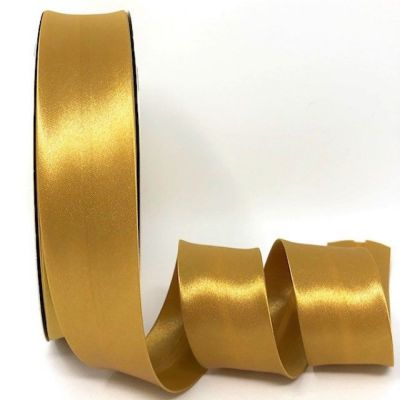Satin Bias Binding - Old Gold - 18mm Or 30mm Wide