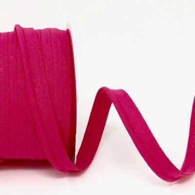 Plain Polycotton Piping Bias Binding - 10mm Wide - Fuchsia