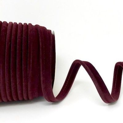Plain Velvet Piping Bias Binding - 10mm Wide - Wine