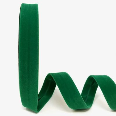 Byesta Fany Velvet Bias Binding - 18mm Wide - Emerald