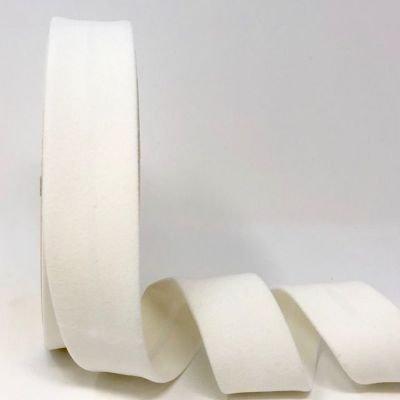 Byesta Fany Velvet Bias Binding - 30mm Wide - White