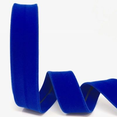 Byesta Fany Velvet Bias Binding - 30mm Wide - Royal Blue