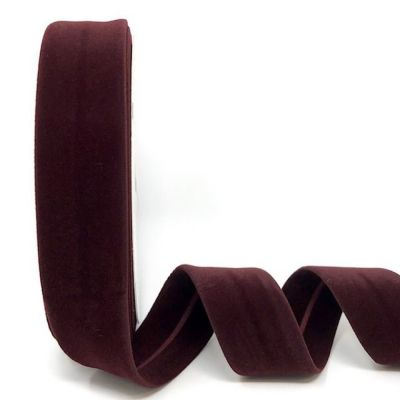 Byesta Fany Velvet Bias Binding - 30mm Wide - Wine
