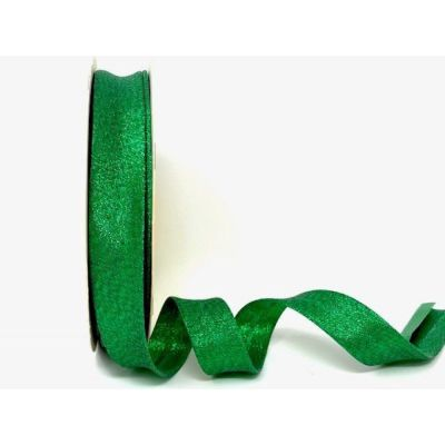 Metallic Lame Bias Binding - 18mm Wide - Green