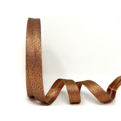 Metallic Lame Bias Binding - 18mm Wide - Copper