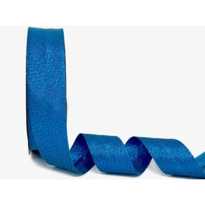 Metallic Lame Bias Binding - 30mm Wide - Blue