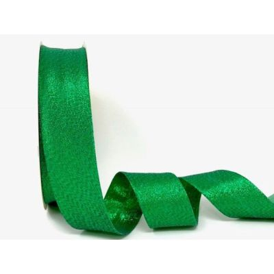 Metallic Lame Bias Binding - 30mm Wide - Green