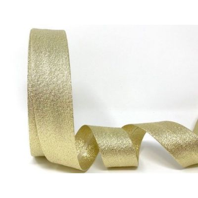 Metallic Lame Bias Binding - 30mm Wide - Gold