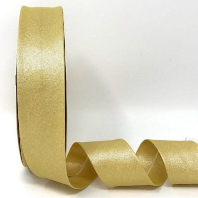 Metallic 100% Cotton Bias Binding - 30mm Wide - Gold