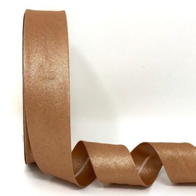 Metallic 100% Cotton Bias Binding - 30mm Wide - Rose Gold