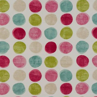 Wobbly Dot - Pink - Curtain Fabric