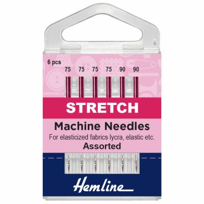 Hemline Stretch Sewing Machine Needles - Mixed - 6 Pieces