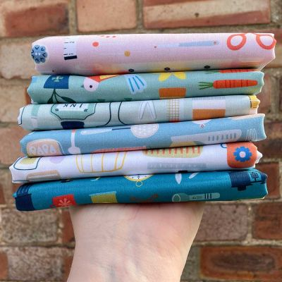 Dashwood Studio - Hobbies - Fat Quarter Bundle - 6 Fabrics
