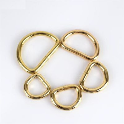 Premium Quality D Rings In Gold - 5 Sizes
