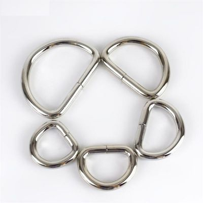 Premium Quality D Rings In Silver - 5 Sizes