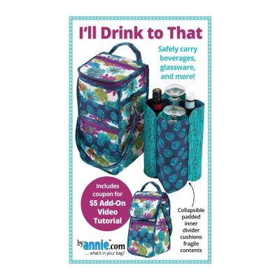 ByAnnie Sewing Pattern -    I'll Drink to That Bag Pattern