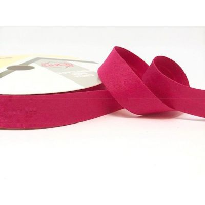 Plain Stretch Cotton Jersey Bias Binding - 18mm Wide - Fuchsia
