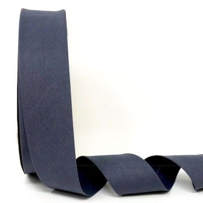 Plain Stretch Cotton Jersey Bias Binding - 30mm Wide - Dark Grey