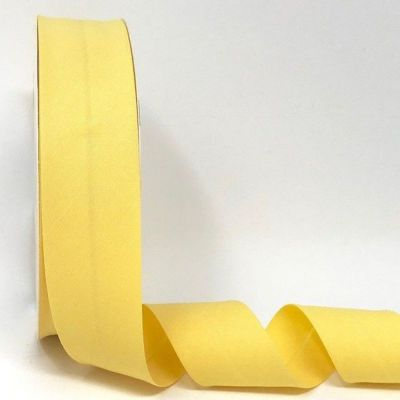 Plain Stretch Cotton Jersey Bias Binding - 30mm Wide - Yellow