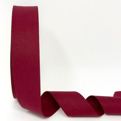Plain Stretch Cotton Jersey Bias Binding - 30mm Wide - Wine