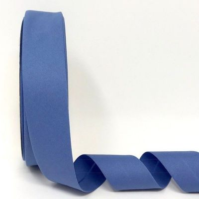 Plain Stretch Cotton Jersey Bias Binding - 30mm Wide - Cornflower