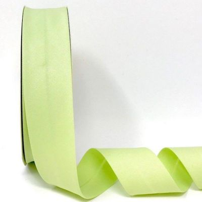 Plain Stretch Cotton Jersey Bias Binding - 30mm Wide - Pale Green