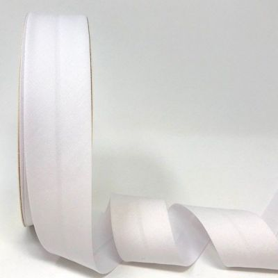 Plain Stretch Cotton Jersey Bias Binding - 30mm Wide - White