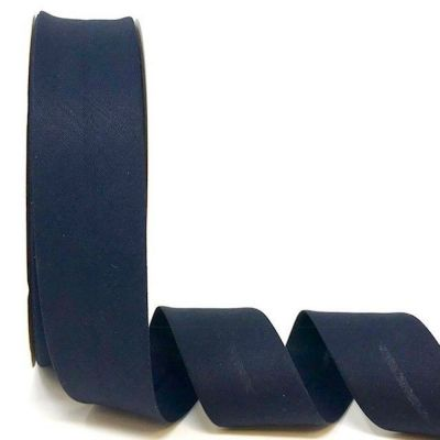 Plain Stretch Cotton Jersey Bias Binding - 30mm Wide - Navy