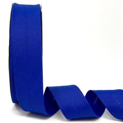 Plain Stretch Cotton Jersey Bias Binding - 30mm Wide - Royal