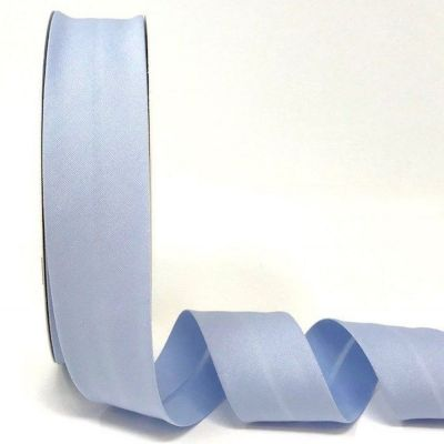 Plain Stretch Cotton Jersey Bias Binding - 30mm Wide - Sky