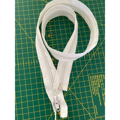Remnant - 1 x Chunky Open Ended Zip - White - 28inch - Marked