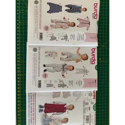 Remnant - 3 x Burda Kids patterns - 9298, 9299 and 9732 - size 6M -3y - End of Line
