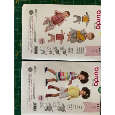Remnant - 2 x Burda Kids patterns - 9296 and 9297 - size 1M -3y - End of Line